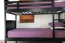 Upstairs bunk beds