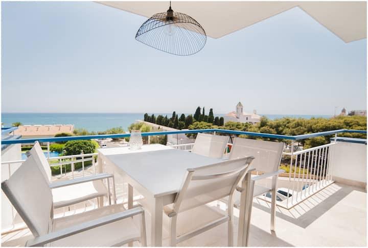 Apto sea view and parking,  2 dormitorios