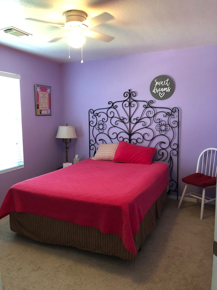 Private bedroom and bathroom available