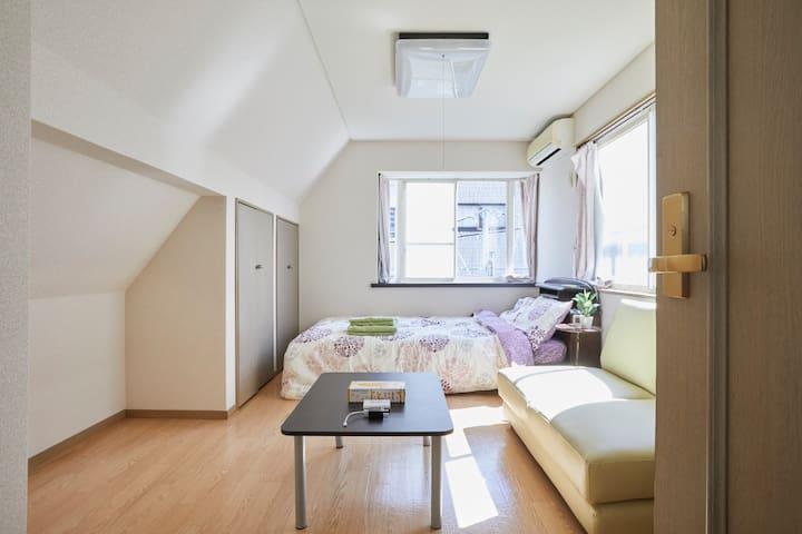 Shibuya 3 mins Free Parking Wifi Private room #1 - Setagaya-ku - Rumah