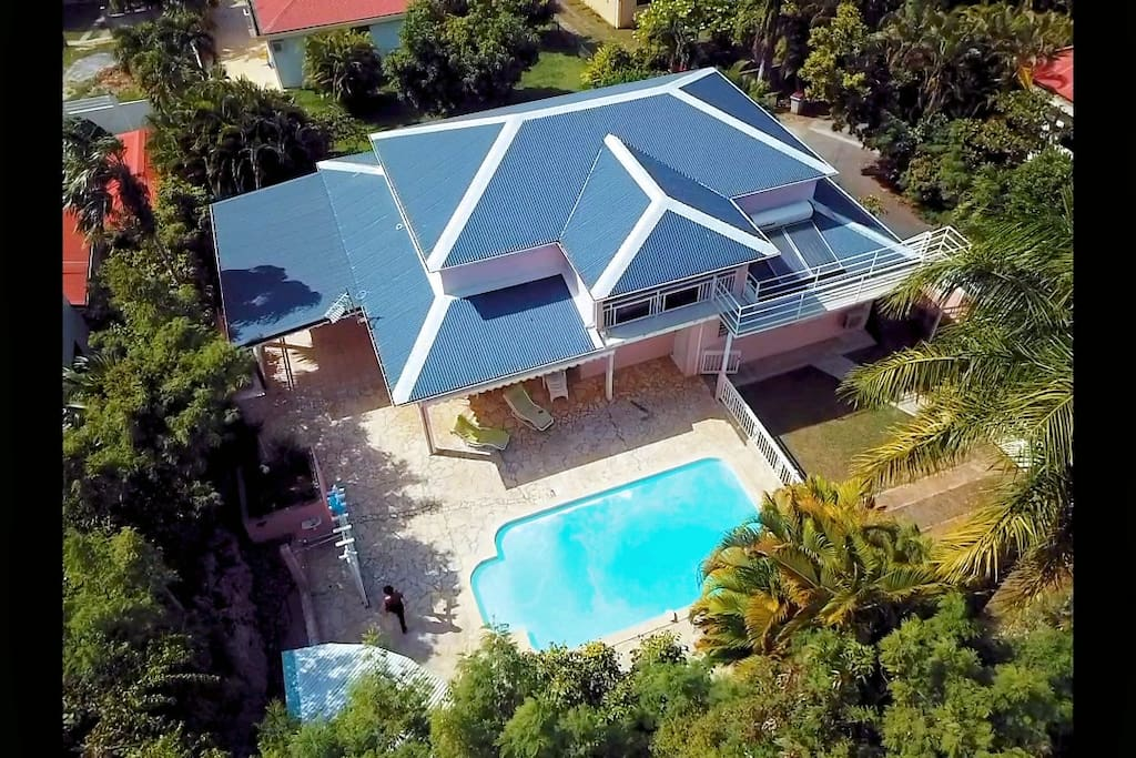 Vue aérienne - Villa Dunoyer