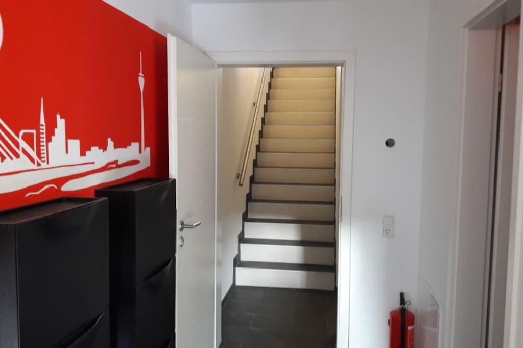 Eingang zur Wohnung.