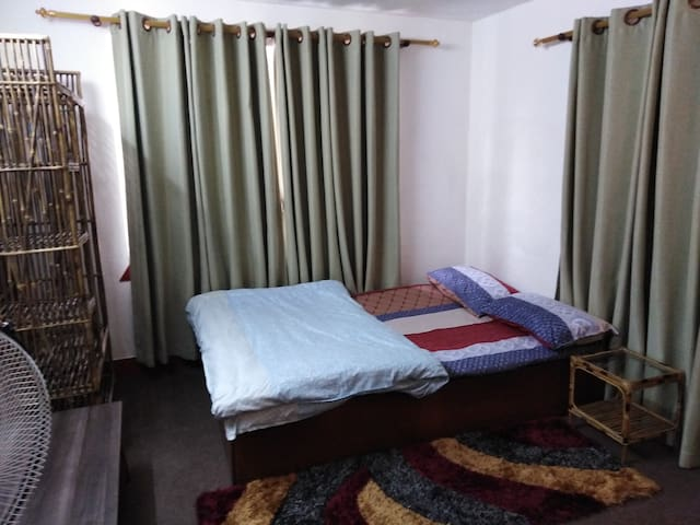 The room is located in ground floor near the kitchen. It is very much homely environment. We provide very clean and healthy environment for a good sleep.