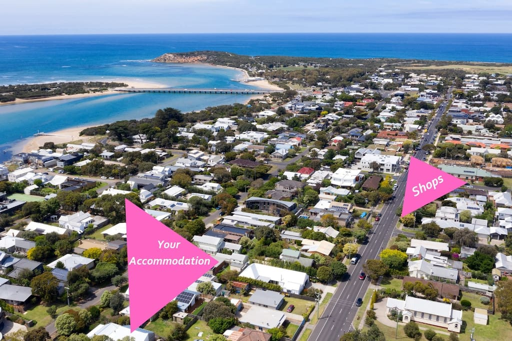 Located in central Barwon Heads, a few minutes stroll to beach and shops.