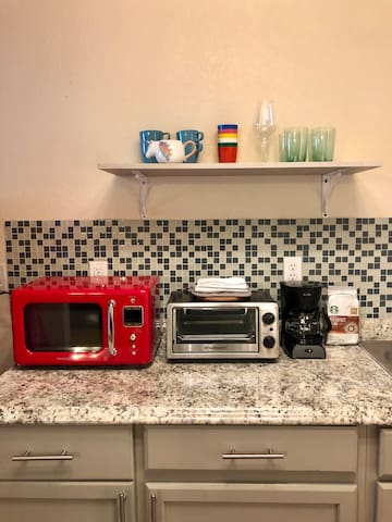 Close ups of the brand new kitchen ware and appliances