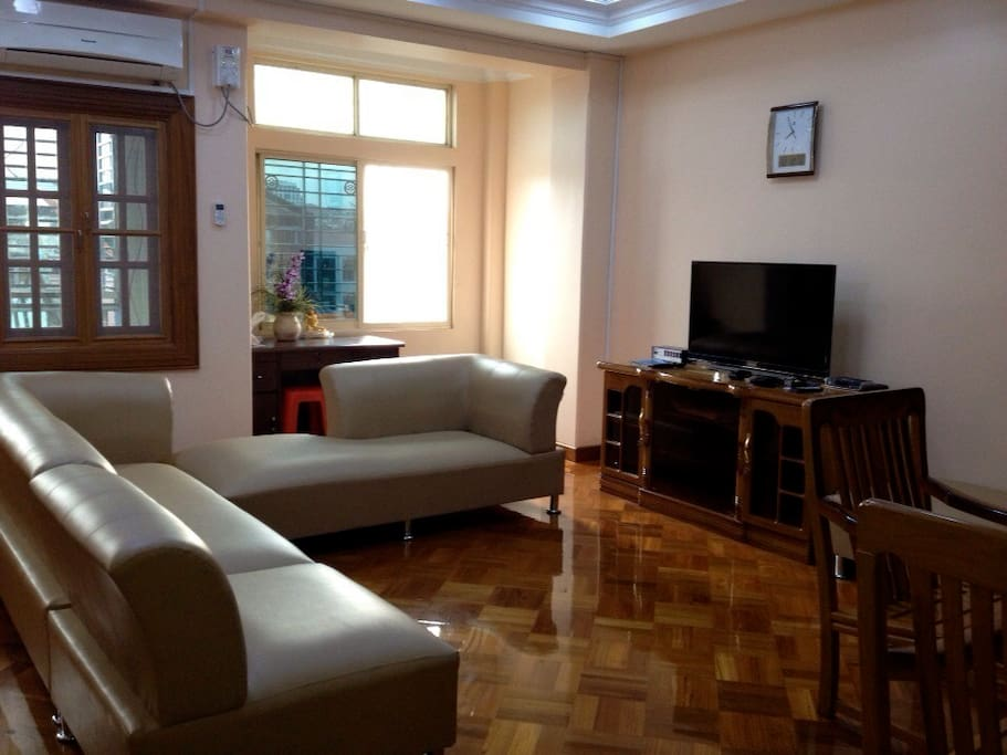 Modern vacation home in chinatown apartments for rent in for Modern house yangon
