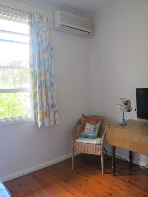 Comfy chairs and TV and Aircon for hot days!