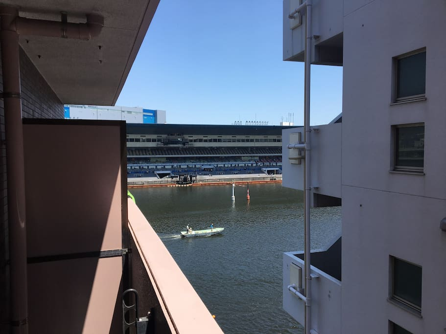 View of the boat races from veranda