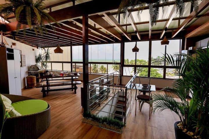 Duplex: vista p/mar e extremo oriental da América