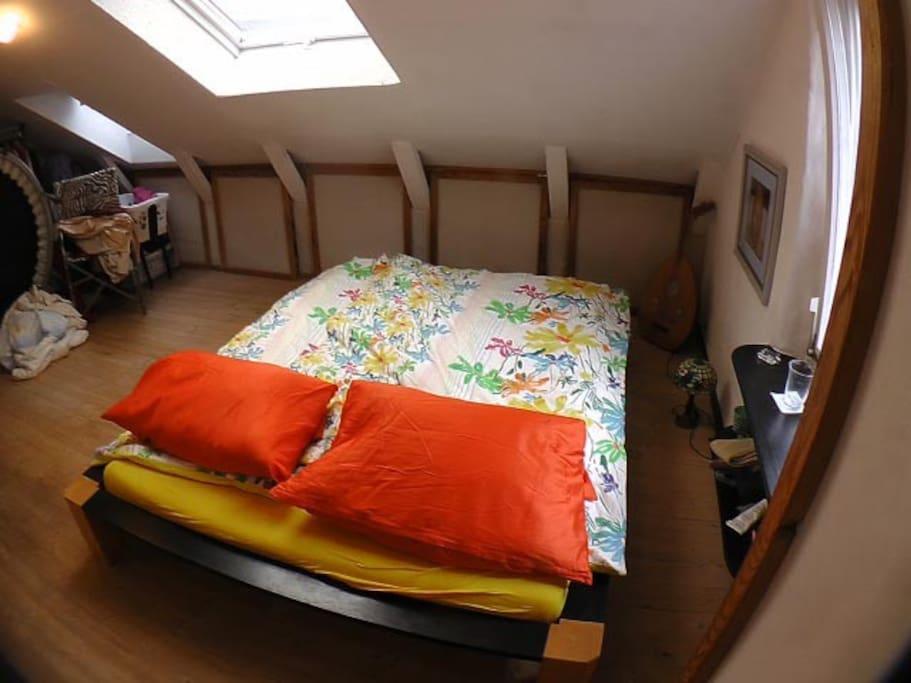 Schlafzimmer mit Dachfreiheit