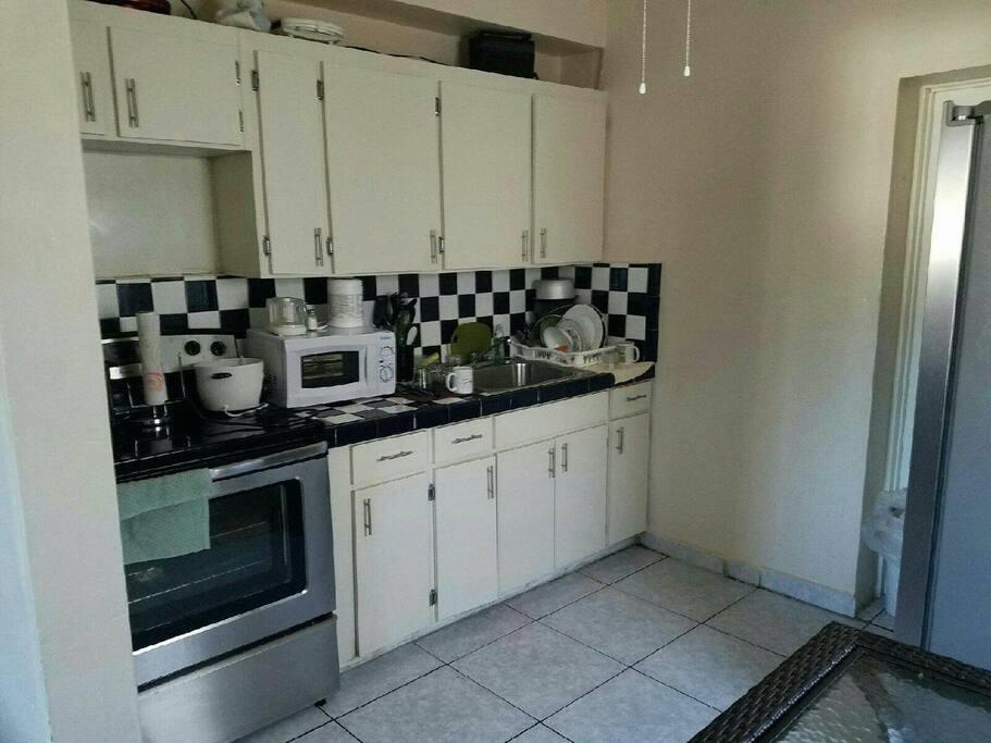 Kitchen, Microwave Sink & Cabinest