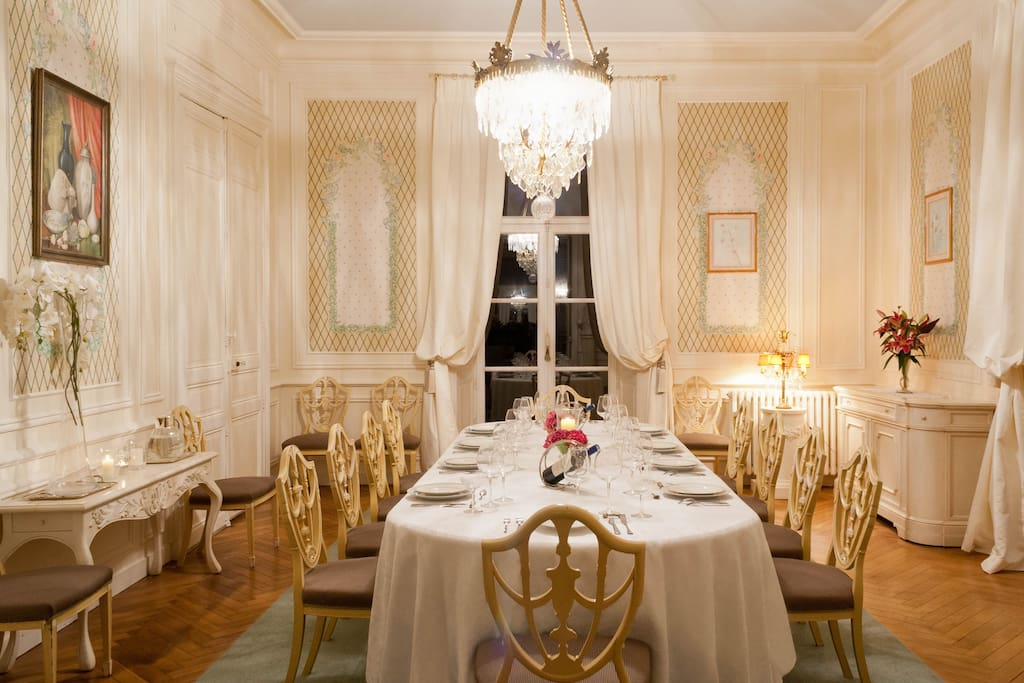 Elegant dining seating up to 10 guests
