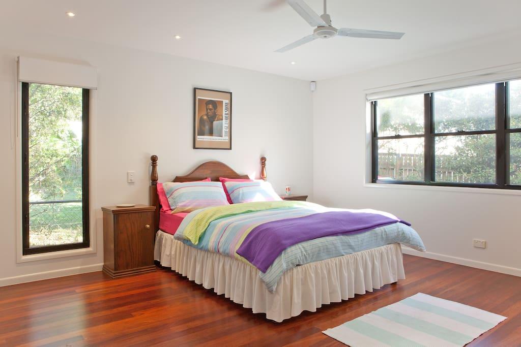 The HUGE main bedroom.