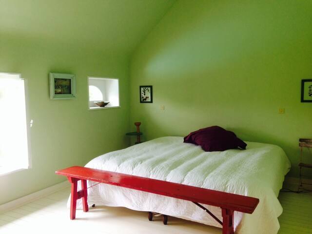 Chambre verte - 1er étage - maison 2