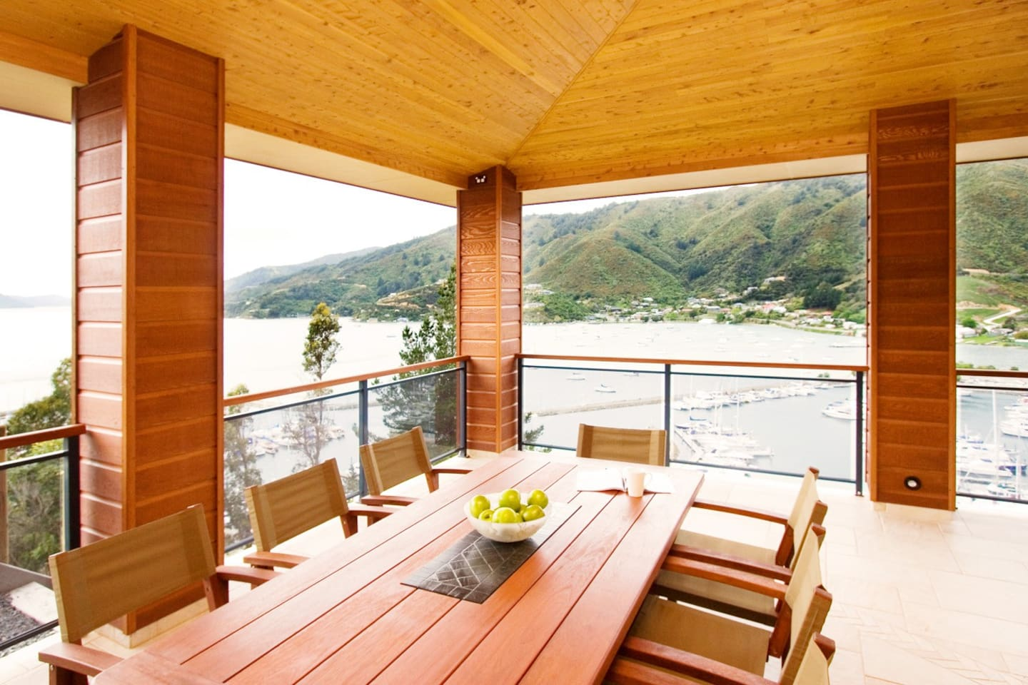 View out to Marlborough Sounds