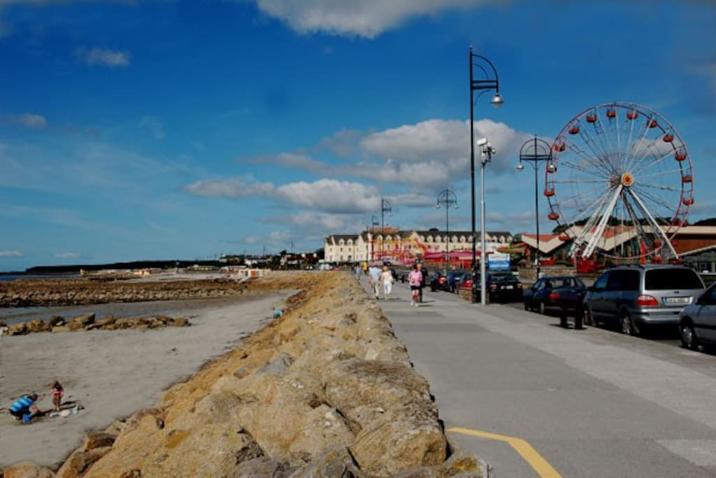 Take a right out of the avenue and the next left and you are facing Galway Bay and The Salthill Prom. Approx 2 min walk.