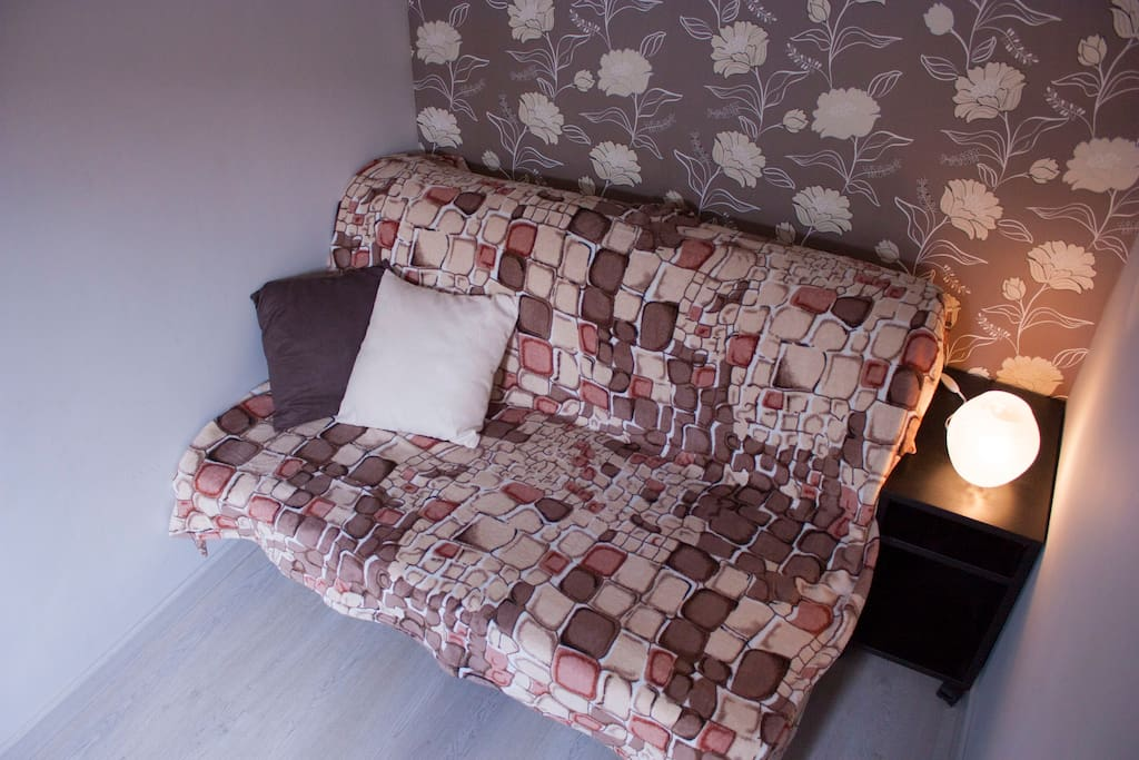 Sofa-bed in the bedroom