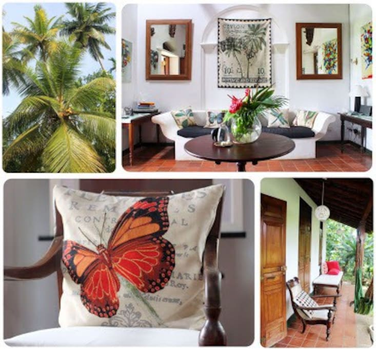 Soft furnishings throughout the property reflect the jungle feeling. Shades of earthy colours.