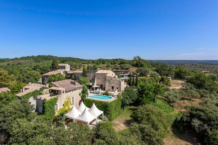Provence-3 houses-pools 2-25 people - Aiguèze - Hus