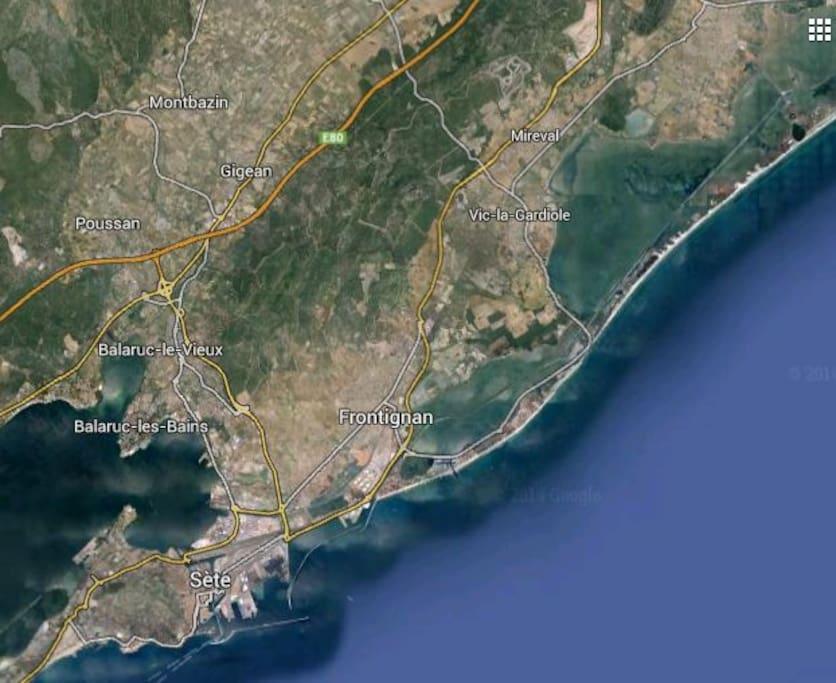La mer à 15 km