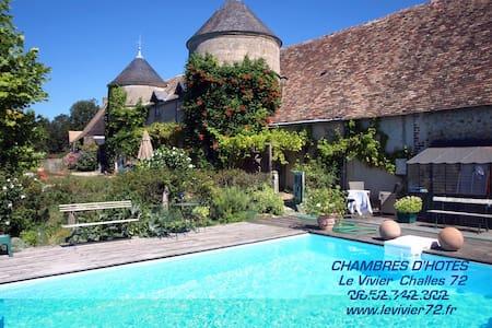 LE VIVIER     Tel 06.52.742.302 - Challes, Sarthe - Bed & Breakfast