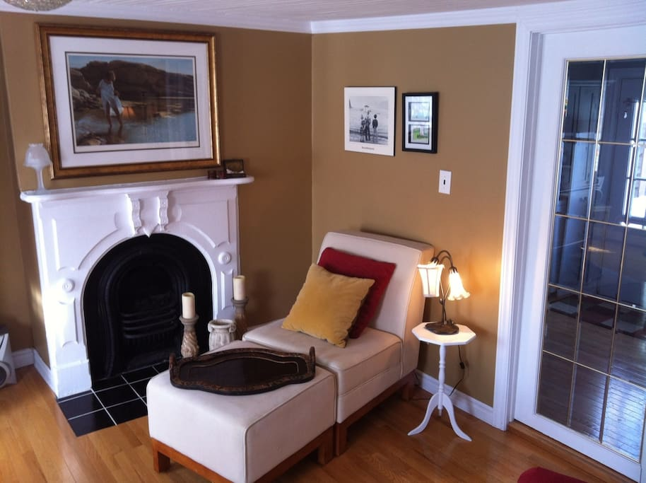 A cozy living room corner.