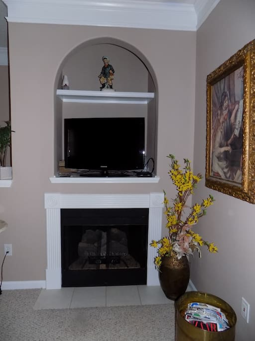 Gas fireplace for chilly nights