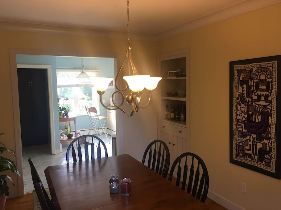 Dining room with seating for six