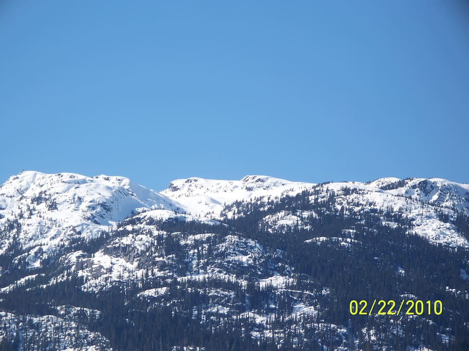 View taken from the deck on front side - (Sproat and Rainbow Mtns)