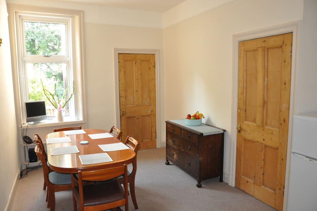 Sitting/dining room.