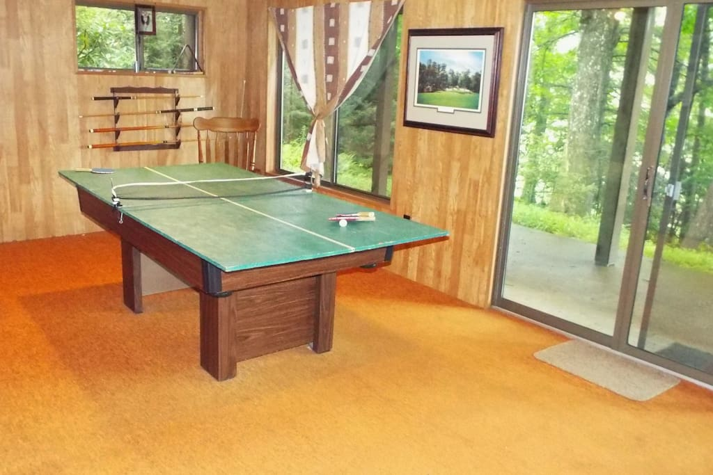 Within a few short minutes you can convert the pool table for a round of ping pong.