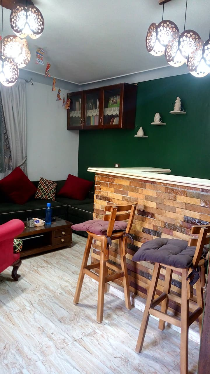 Coffee bar and natural bricks walls