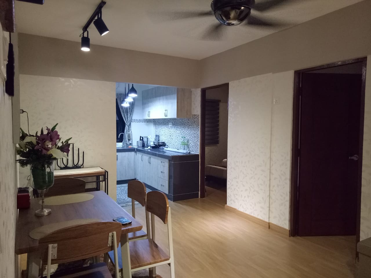 Decorated & Furnished Living Hall with Air-Cond and Kitchen