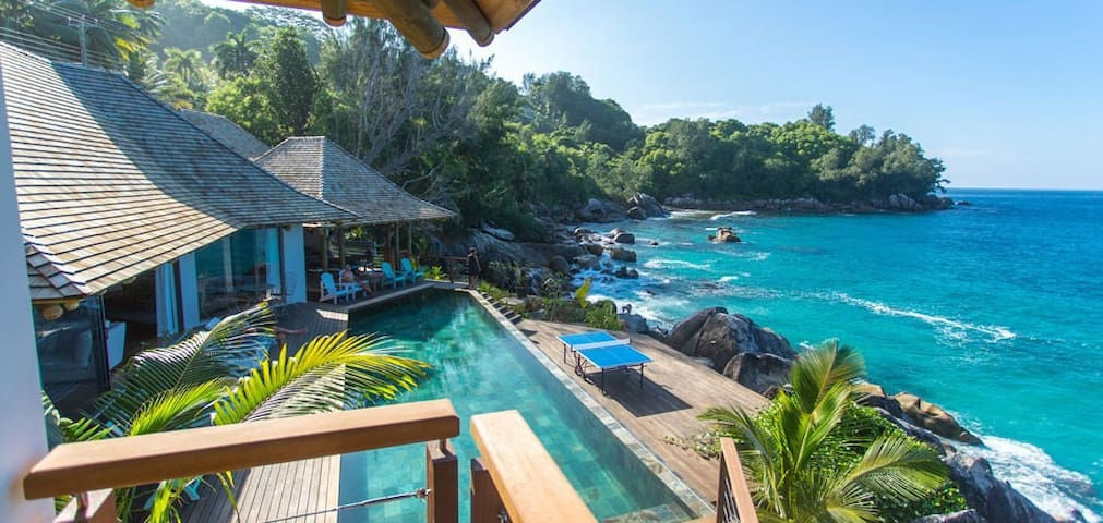 Exclusive villa on the Sea - Seychelles - Machabee - Hus