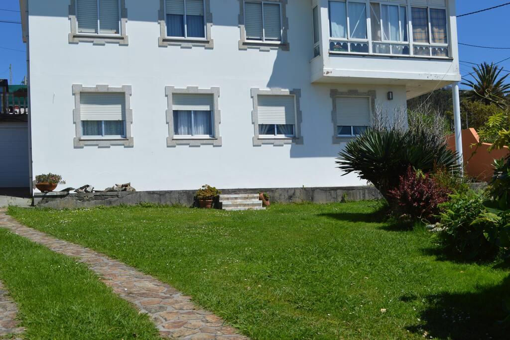 Fachada de la casa.