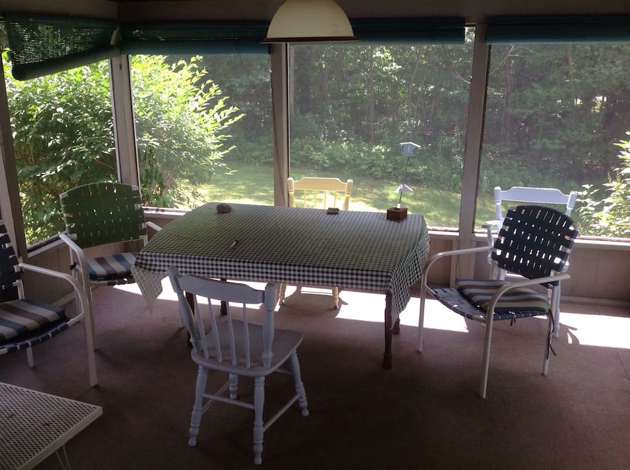 Relax on our screened porch