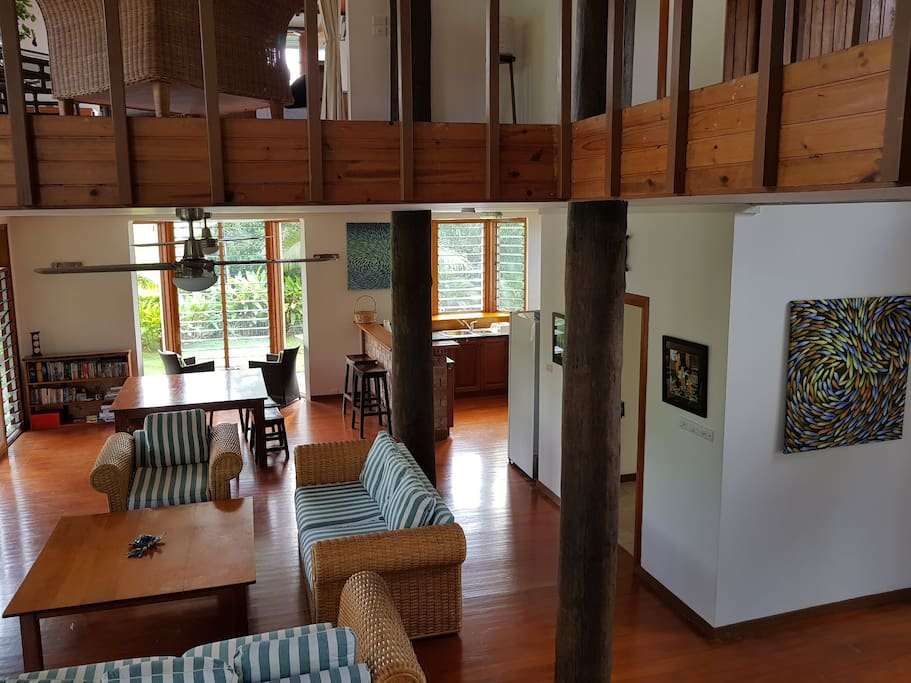 Open Lounge, Dining, Kitchen Area