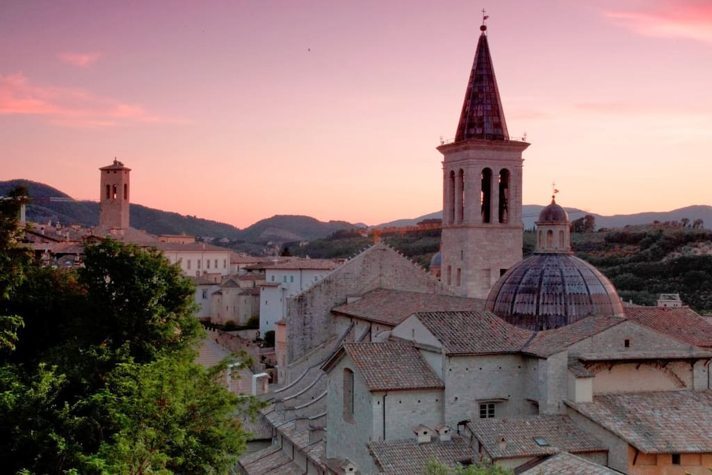 Lovely Spoleto! The apartment is right in the centre town