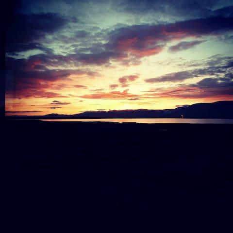 Sunset backgarden