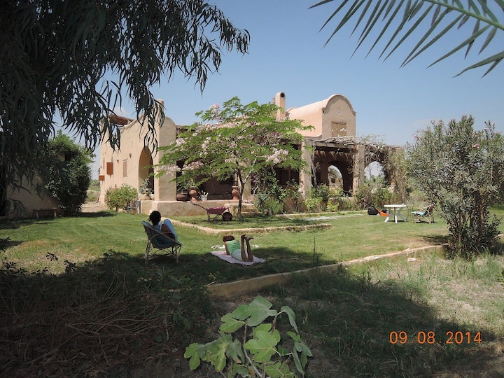 Maison du Lac next to lake Qarun in Tunés village