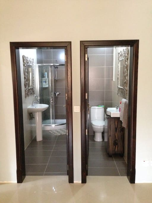Shower and Toiler Room + a separate guest toilet
