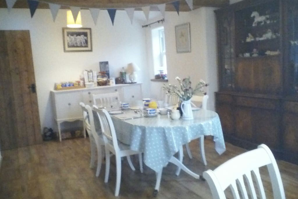 Our spacious guest breakfast/ dining room