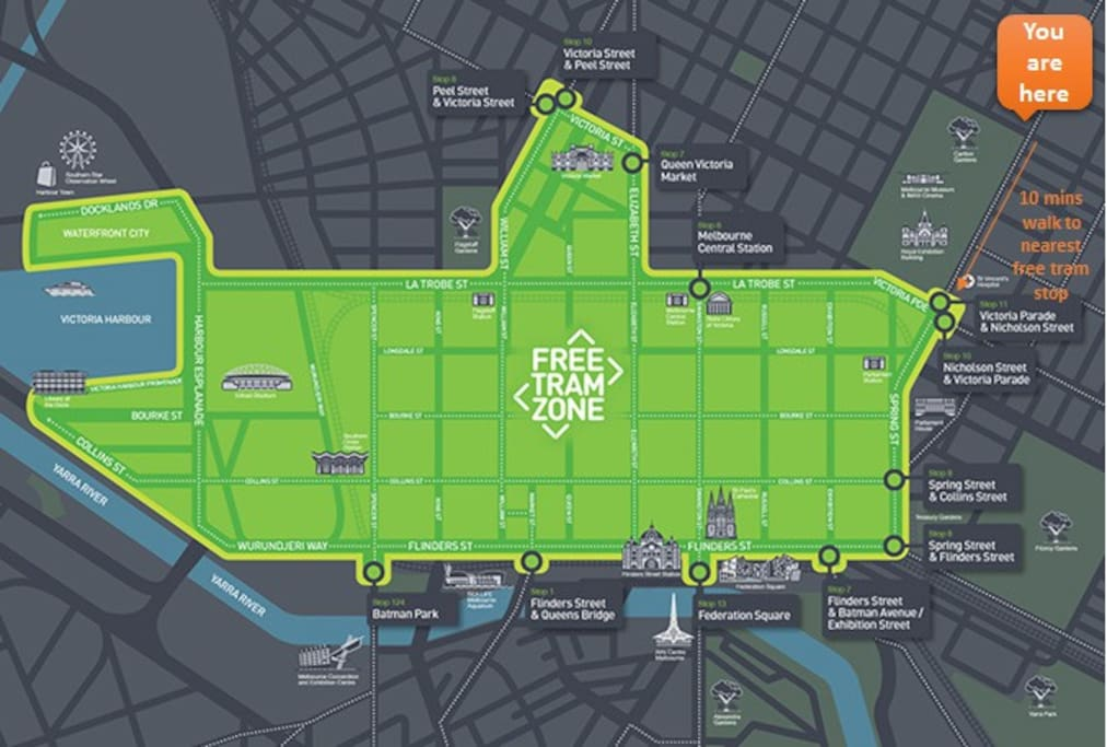 Save on transport with 15 mins walk to CBD or 10 mins/3 stops free tram zone