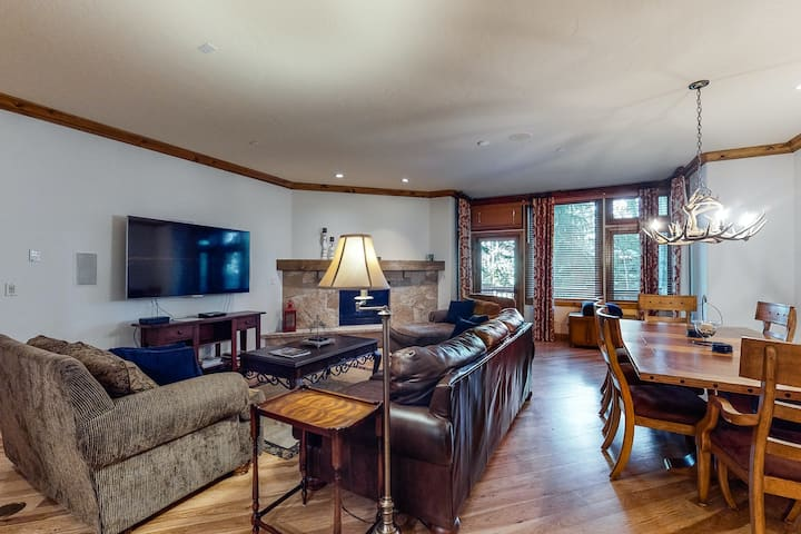 Ski-in/out, family-friendly condo w/shared hot tub, outdoor pool - walk to lifts