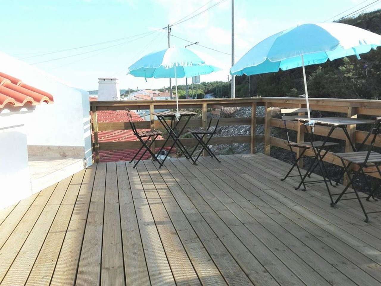 Deck with chairs and tables...