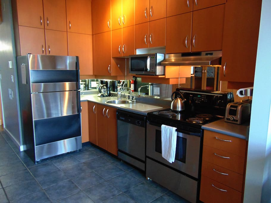 Full stainless steel kitchen