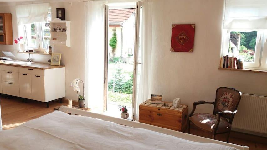 Schönes 1 Zimmer - Apartment mit Terrasse - Burgpreppach - Appartamento