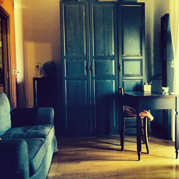 An huge wardrobe and a private desk in front of the apulian sun! :)