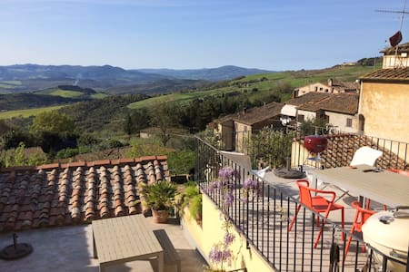 Designer flat with a beautiful view - Montecatini Val di Cecina (PI) - Apartment
