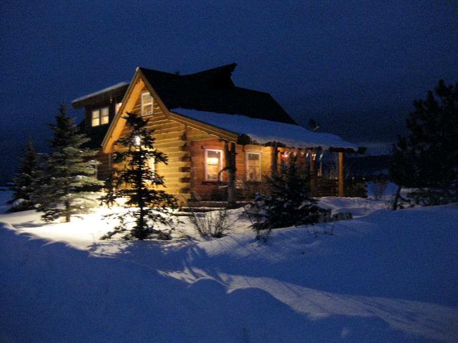 "The cabin sits in a winter wonderland  so close to the ""Ghee"" you can watch the snowcats groom the slopes at night."
